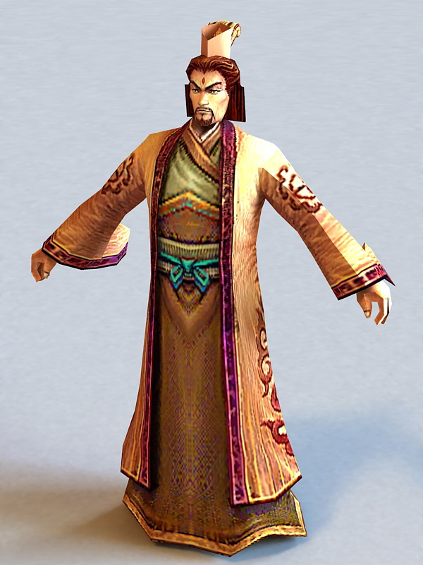 Ancient Chinese Lord 3d Model 3ds Max Files Free Download