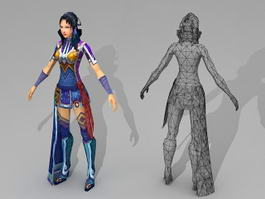 Fantasy Woman 3d model