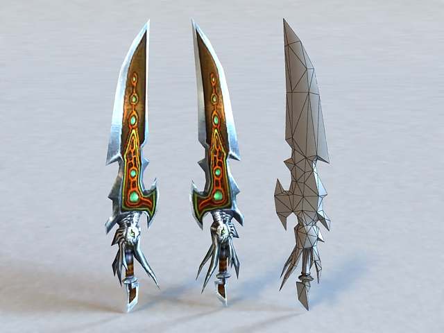 Dragon Fantasy Dagger 3d model