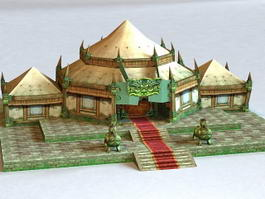 Ancient Jungle Temple 3d model