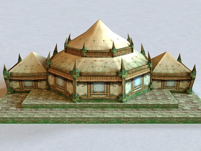 Ancient Jungle Temple 3d model