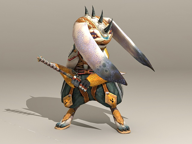 Warrior Rabbit Character 3d Model 3ds Max Files Free