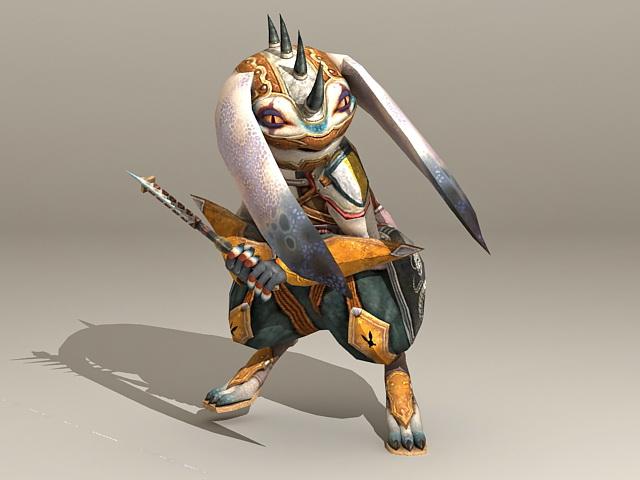 Warrior Rabbit Character 3d model