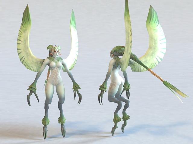 Harpy Creature 3d model