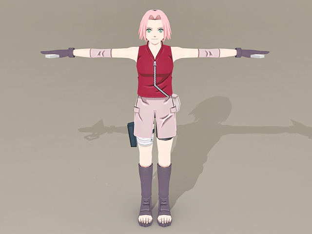 Naruto Character Sakura Haruno 3d model