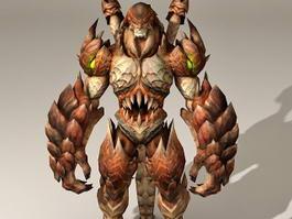 Drakan Guard Animated & Rigged 3d model