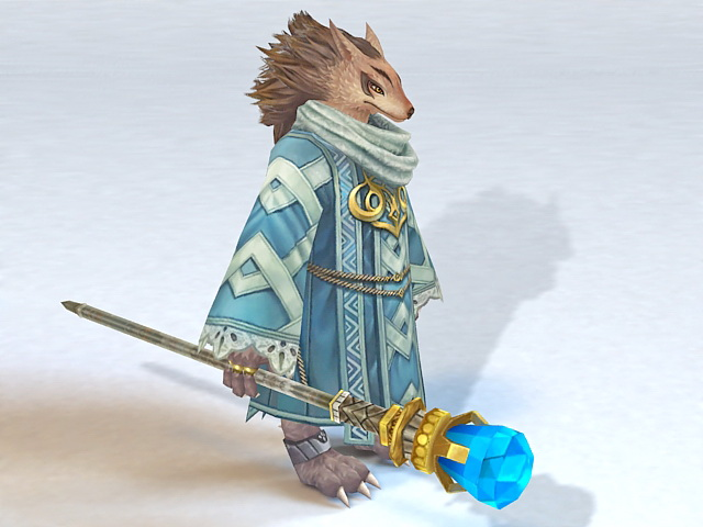 Fox Wizard 3d model