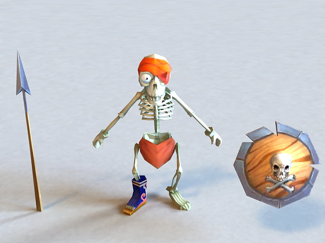 Skeleton Soldier 3d model