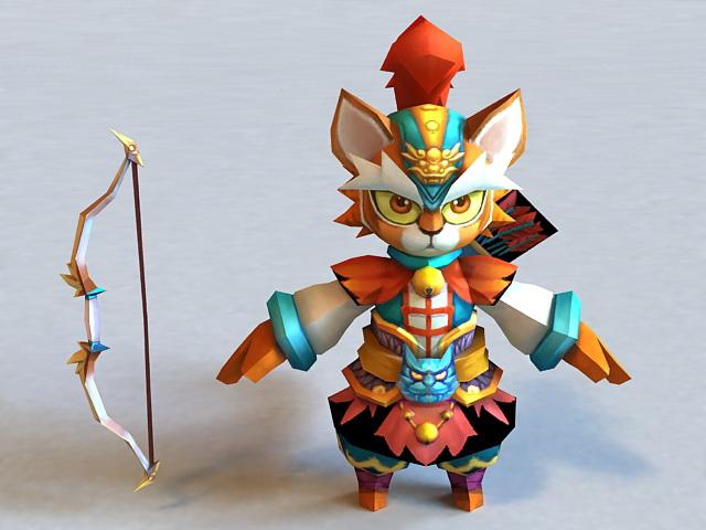 Anime Tiger Archer 3d model