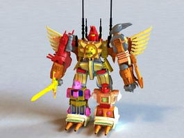 Animated Transformers 3d model