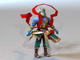 Chinese Mythology War God 3d model