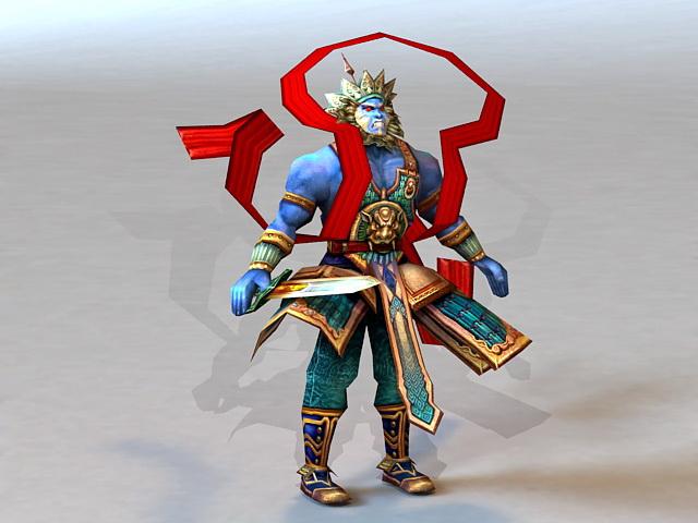 Chinese Mythology War God 3d model