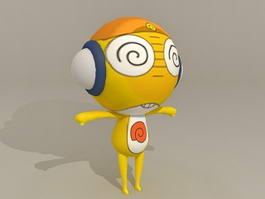 Cartoon People Rigged 3d model