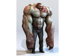 Zombie Hulk 3d model
