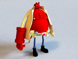 Hellboy Cartoon 3d model