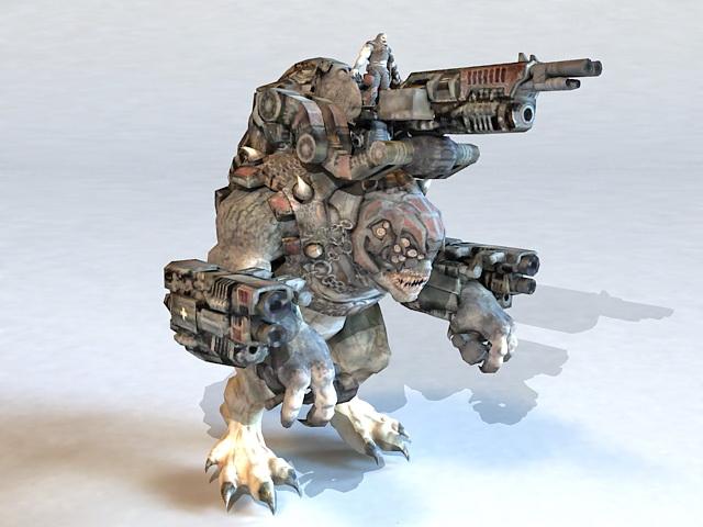 War Machine Cyborg Monster 3d model