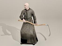Zombie Friar Monk 3d model