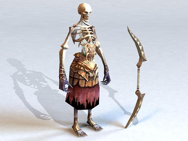 Skeleton Archer 3d model