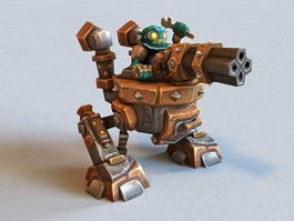 Dwarven Clockwork Mech 3d model