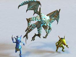 Gargoyle & Goblin 3d model