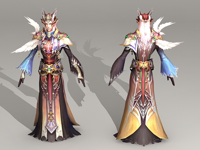 High Elf Priest 3d model