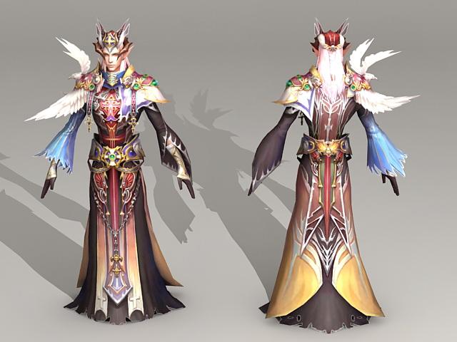 High Elf Priest 3d model
