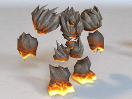 Abyssal Flamebringer Animated & Rigged 3d model