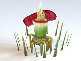 Fantasy Plant Flower 3d model