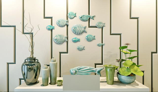 Fish wall decor 3d model 3ds max files free download for Decoration 3ds max
