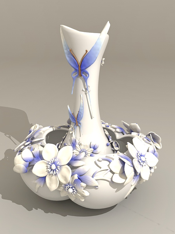 Butterfly Vase 3d model