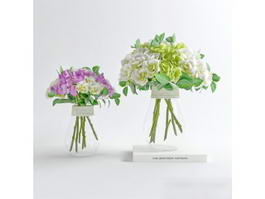 Modern Flower Arrangements 3d model