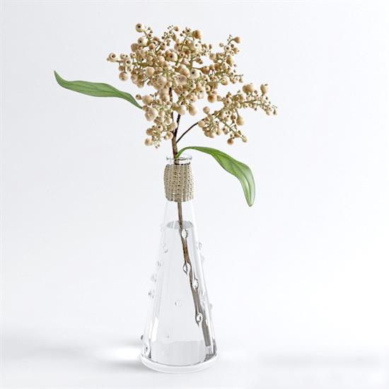 Minimalist Tree Branch Vase 3d model