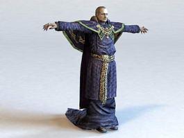 Medieval Friar 3d model