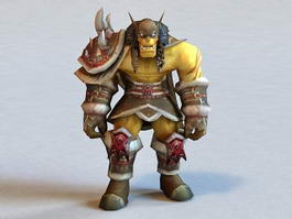 Warcraft Rexxar 3d model