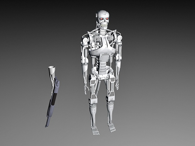 Terminator T-800 3d model 3ds Max,Object files free ...