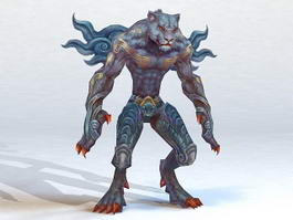 Leopard Humanoid Warrior 3d model