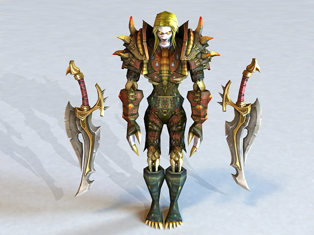 Undead Rogue with Daggers 3d model