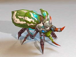 Bug Monster Concept Animated 3d model