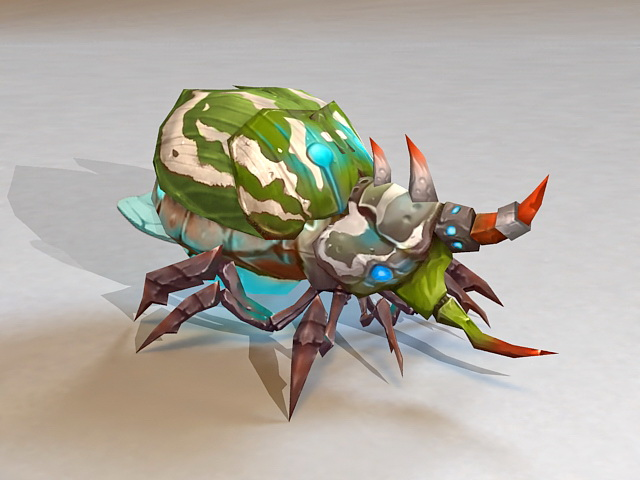 Bug Monster Concept Animated 3d Model 3ds Max Files Free