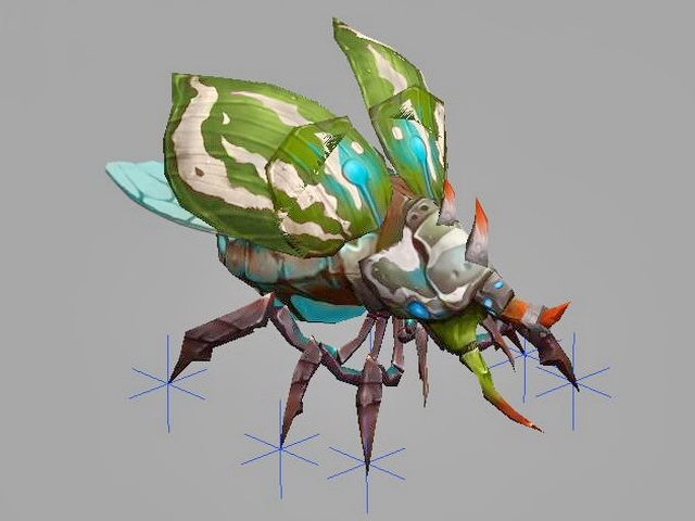 Bug Monster Concept Animated 3d rendering