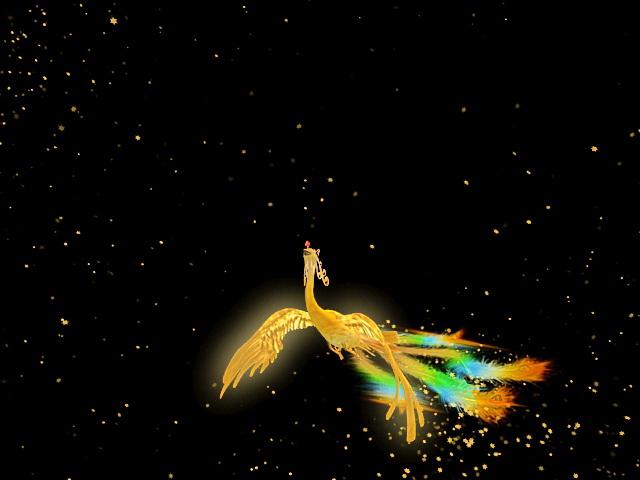 Animated Flying Phoenix 3d model