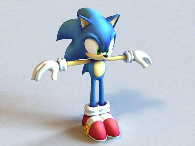 Sonic Unleashed Hedgehog Character 3d model