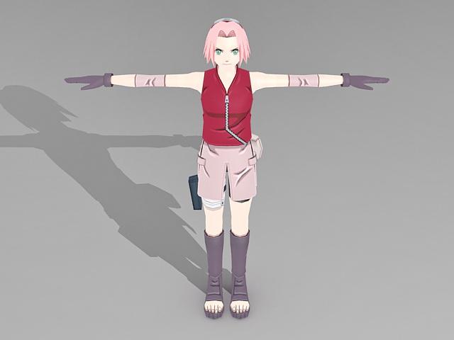 Sakura Haruno 3d model