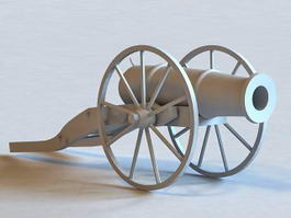 American Civil War Cannon 3d model