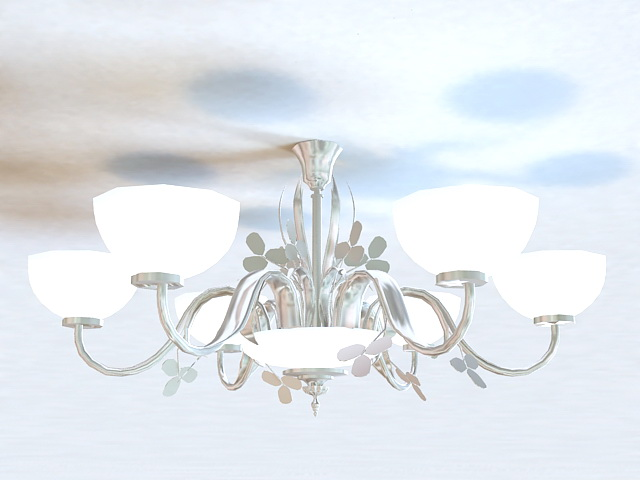 Flush Mount Chandelier 3d model