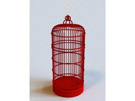 Tall Decorative Bird Cage 3d model