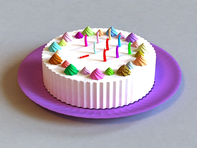 3D Model Of Happy Birthday Cake Available 3d File Format Max Autodesk 3ds Free Download This And Put It Into Your Scene Use Them For