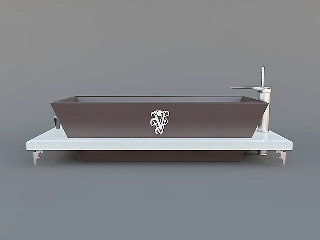 Italian Bathtub 3d model