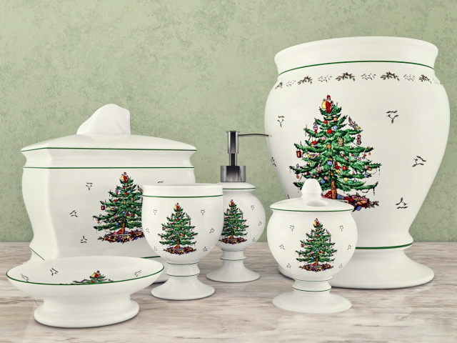 Christmas Tree Bathroom Accessories Sets 3d model
