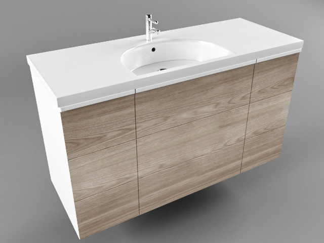 Bathroom Wash Basin Cabinet 3d model